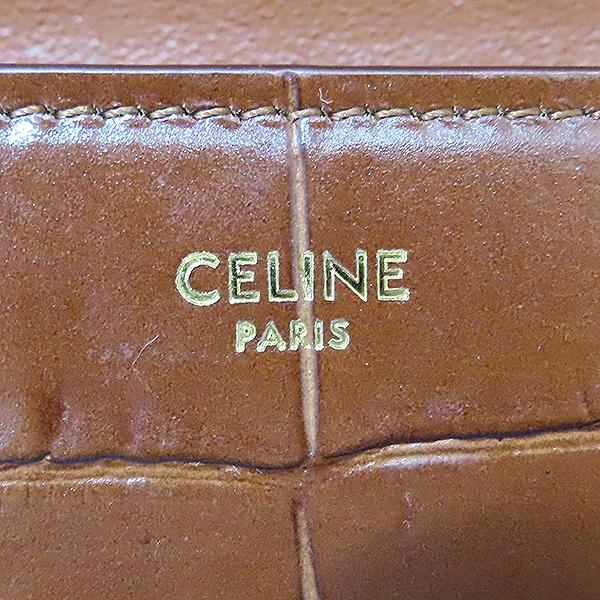 Celine(셀린느) 190483BOC 19F/W 브라운 컬러 크로커다일 패턴 미디엄 테슬 숄더백 [대전본점] 이미지6 - 고이비토 중고명품