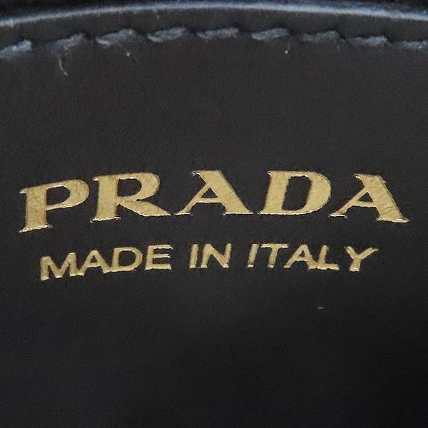 Prada(프라다) 1BA156 블랙 사피아노 레더 모노크롬 토트백 + 스트랩 2WAY [대전본점] 이미지6 - 고이비토 중고명품