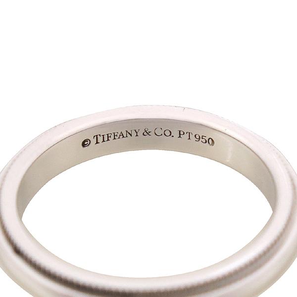 Tiffany(티파니) PT950 플래티늄골드 밀그레인 웨딩 밴드 링 3MM 반지 - 9호 [잠실점] 이미지2 - 고이비토 중고명품