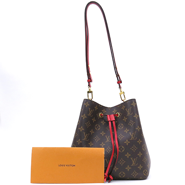 Louis Vuitton(루이비통) M44021 모노그램 캔버스 Coquelicot 레드컬러 네오 노에 버킷 숄더백 [잠실점]
