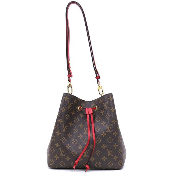 Louis Vuitton(루이비통) M44021 모노그램 캔버스 Coquelicot 레드컬러 네오 노에 버킷 숄더백 [잠실점] 이미지2 - 고이비토 중고명품