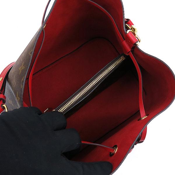 Louis Vuitton(루이비통) M44021 모노그램 캔버스 Coquelicot 레드컬러 네오 노에 버킷 숄더백 [잠실점] 이미지5 - 고이비토 중고명품