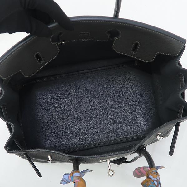 Hermes(에르메스) 그레이 레더 벌킨 35 토트백 + 실크 스카프 [강남본점] 이미지5 - 고이비토 중고명품