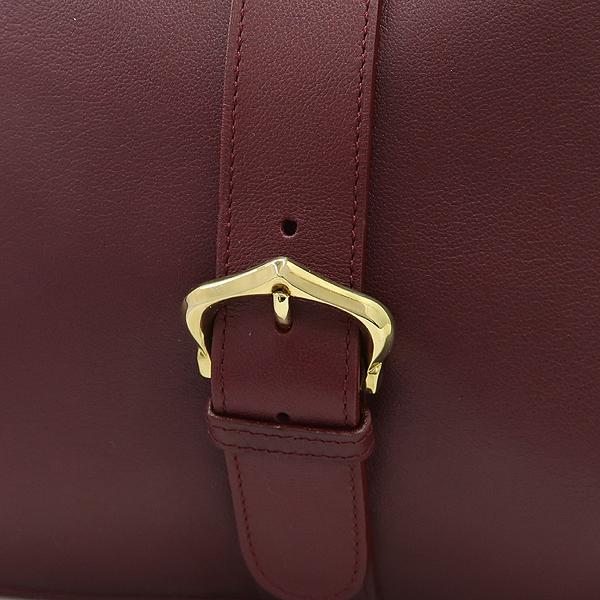 Cartier(까르띠에) MUST DE CARTIER Bordeaux 컬러 레더 금장로고 벨트 크로스백 [강남본점] 이미지4 - 고이비토 중고명품