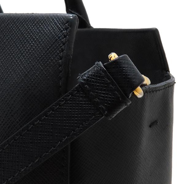Prada(프라다) BN2259 SAFFIANO LUX NERO 블랙 사피아노 삼각 금장로고 토트백 + 숄더스트랩 2WAY [인천점] 이미지4 - 고이비토 중고명품