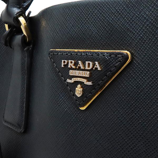 Prada(프라다) BN2259 SAFFIANO LUX NERO 블랙 사피아노 삼각 금장로고 토트백 + 숄더스트랩 2WAY [인천점] 이미지5 - 고이비토 중고명품
