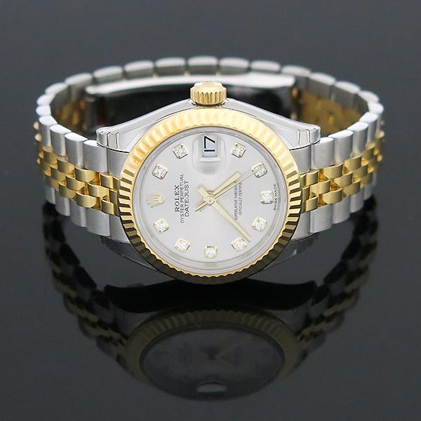 Rolex(로렉스) 279173 18K 옐로우골드 쥬빌레 콤비 10포인트 다이아 셋팅 DATEJUST(데이저스트) 28MM 여성용 시계 [부산센텀본점] 이미지4 - 고이비토 중고명품