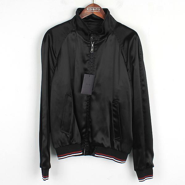 Prada(프라다) SGN671 블랙 컬러 배색 밴딩 남성용 블루종 자켓 [강남본점]