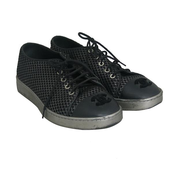 Chanel(샤넬) 블랙 컬러 CC로고 여성용 스니커즈 [동대문점] 이미지2 - 고이비토 중고명품