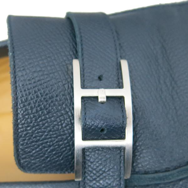 Hermes(에르메스) 네이비 컬러 레더 은장 벨트 장식 남성용 로퍼 [동대문점] 이미지3 - 고이비토 중고명품