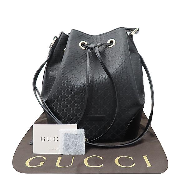 Gucci(구찌) 354228 블랙 컬러 DIAMANTE(디아망떼) 레더 버킷 크로스백 [부산서면롯데점]