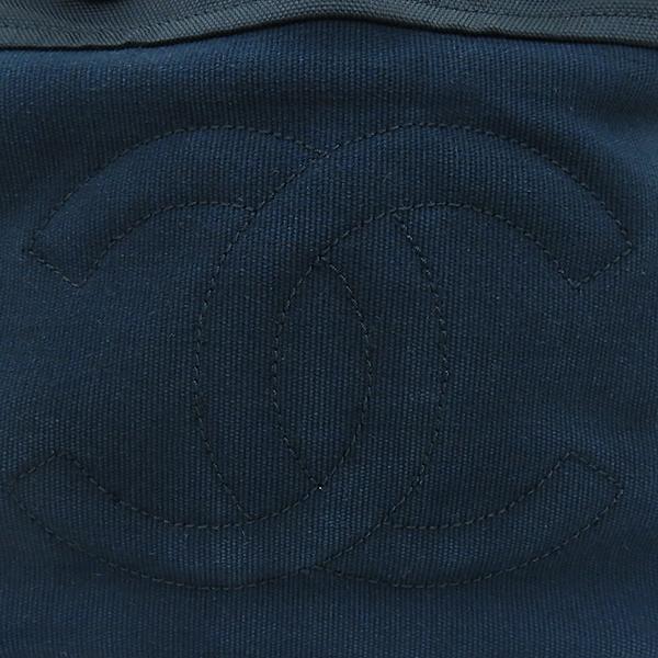 Chanel(샤넬) 블랙 COCO로고 정방 패브릭 쇼퍼 2WAY [부산센텀본점] 이미지5 - 고이비토 중고명품