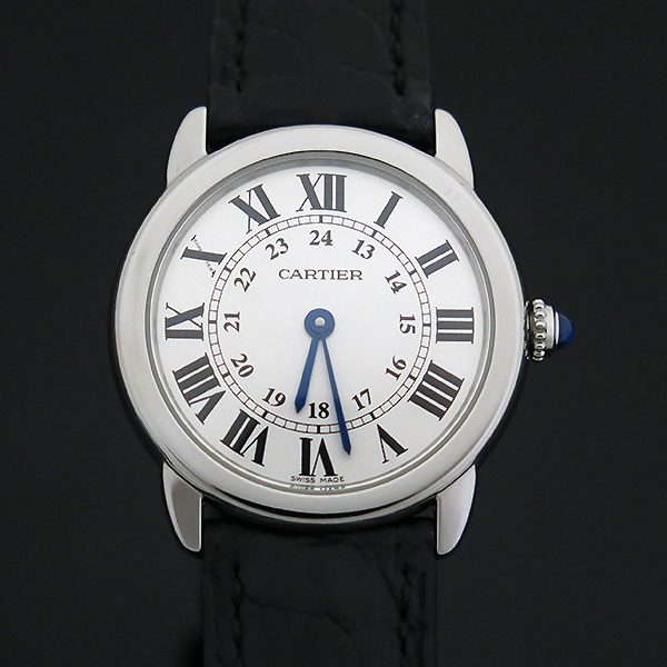 Cartier(까르띠에) W6700155 Ronde Solo(론드 솔로) S사이즈 가죽밴드 여성용 시계 [부산센텀본점]