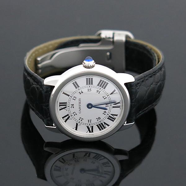 Cartier(까르띠에) W6700155 Ronde Solo(론드 솔로) S사이즈 가죽밴드 여성용 시계 [부산센텀본점] 이미지2 - 고이비토 중고명품