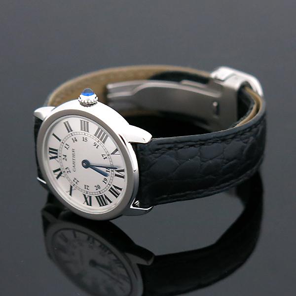 Cartier(까르띠에) W6700155 Ronde Solo(론드 솔로) S사이즈 가죽밴드 여성용 시계 [부산센텀본점] 이미지3 - 고이비토 중고명품
