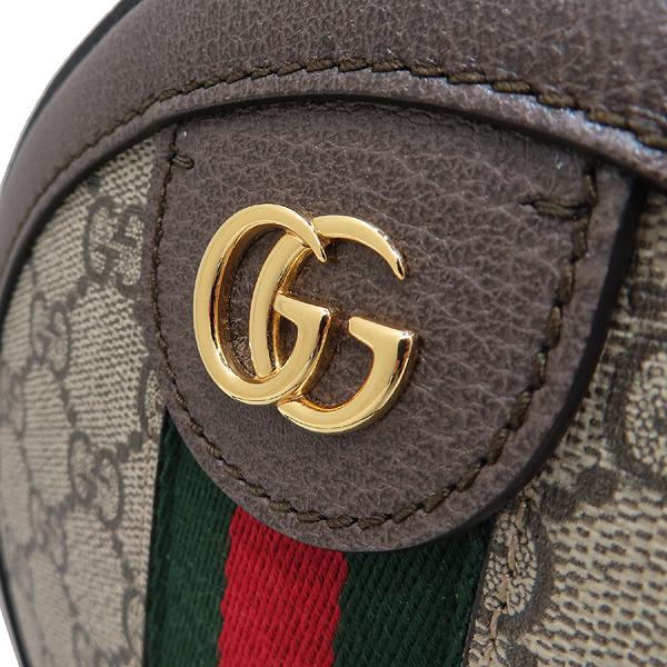Gucci(구찌) 550618 브라운 레더 오피디아 웹 GG 라운드 미니 체인 크로스백 [인천점] 이미지3 - 고이비토 중고명품