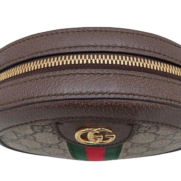 Gucci(구찌) 550618 브라운 레더 오피디아 웹 GG 라운드 미니 체인 크로스백 [인천점] 이미지5 - 고이비토 중고명품