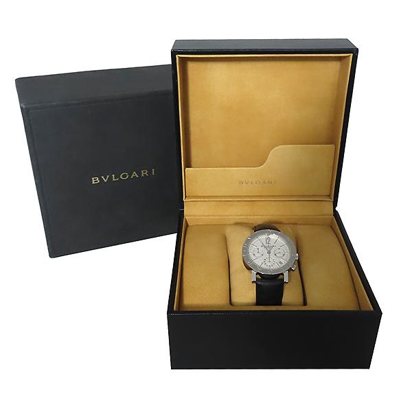 Bvlgari(불가리) BB38WSLDCH BVLGARI BVLGARI(불가리 불가리) 크로노그래프 오토매틱 DD클립 가죽 밴드 남성용 시계 [대전본점]