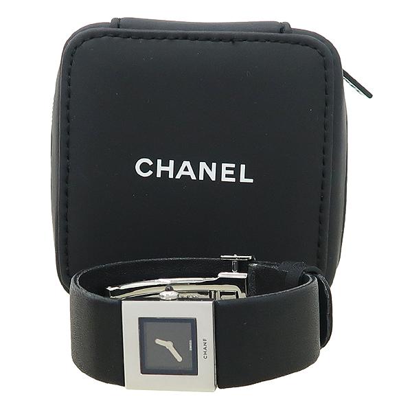 Chanel(샤넬) 은장 스틸 MADEMOISELLE(마드모아젤) 가죽 밴드 DD클립 쿼츠 여성용 시계 [강남본점]