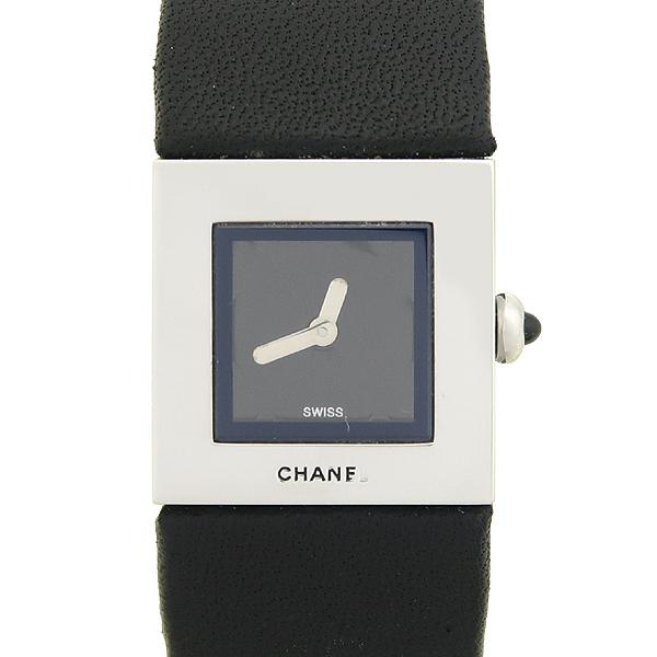Chanel(샤넬) 은장 스틸 MADEMOISELLE(마드모아젤) 가죽 밴드 DD클립 쿼츠 여성용 시계 [강남본점] 이미지5 - 고이비토 중고명품