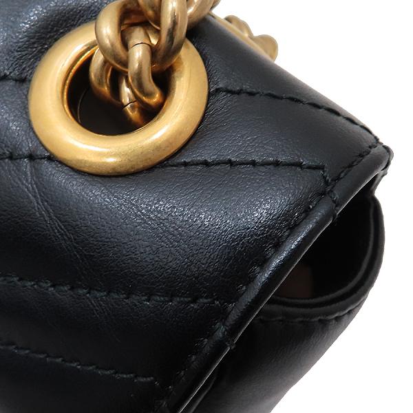 Gucci(구찌) 443497 블랙 레더 GG마몬트 스몰 마틀라쎄 퀼팅 금장 체인 숄더백 [인천점] 이미지5 - 고이비토 중고명품
