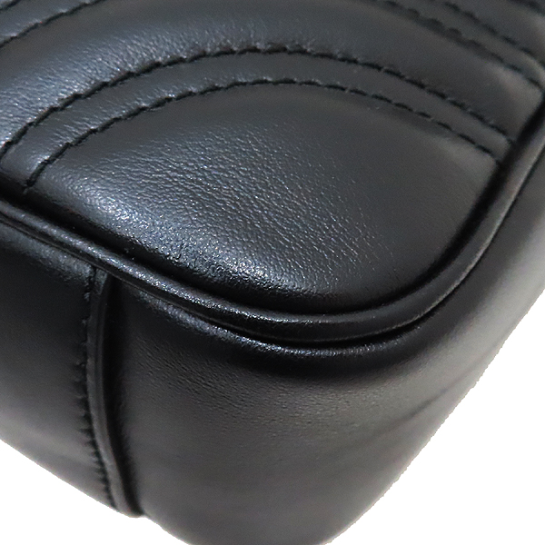 Gucci(구찌) 443497 블랙 레더 GG마몬트 스몰 마틀라쎄 퀼팅 금장 체인 숄더백 [인천점] 이미지6 - 고이비토 중고명품