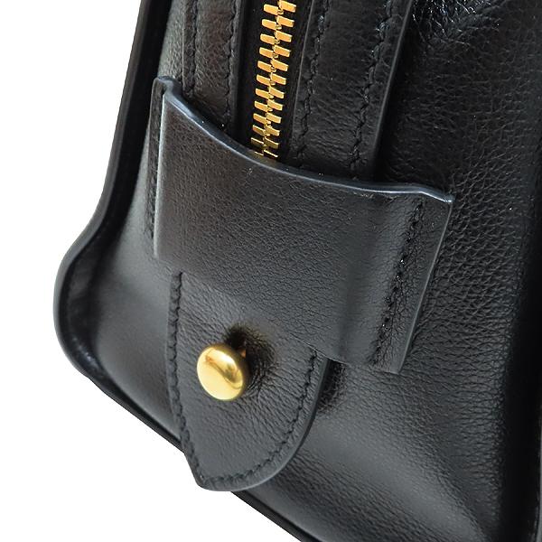 Prada(프라다) 1BA164 블랙 레더 금장 로고 장식 미니 토트백 + 숄더 스트랩 2-WAY [인천점] 이미지5 - 고이비토 중고명품