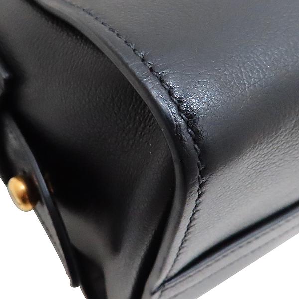 Prada(프라다) 1BA164 블랙 레더 금장 로고 장식 미니 토트백 + 숄더 스트랩 2-WAY [인천점] 이미지6 - 고이비토 중고명품