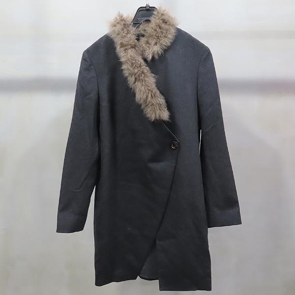 BRUNELLO CUCINELLI(브루넬로 쿠치넬리) 100% 캐시미어 다크그레이 컬러 넥 퍼 여성용 자켓 [인천점]
