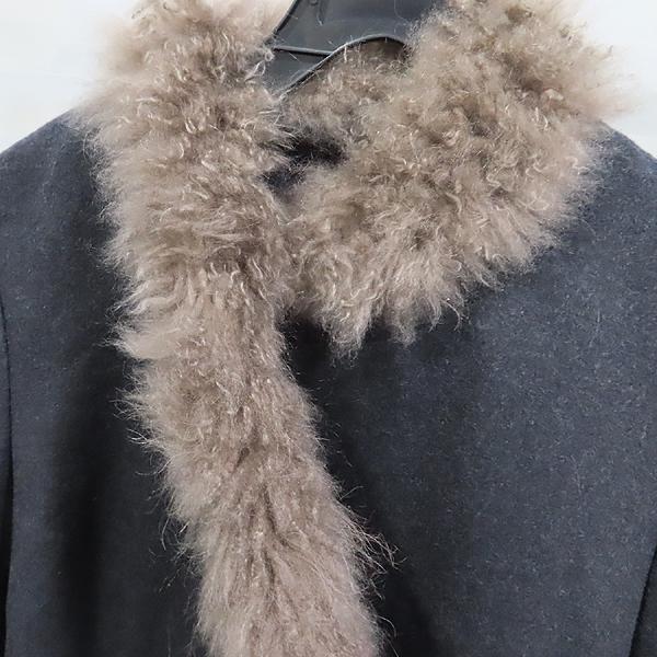 BRUNELLO CUCINELLI(브루넬로 쿠치넬리) 100% 캐시미어 다크그레이 컬러 넥 퍼 여성용 자켓 [인천점] 이미지2 - 고이비토 중고명품