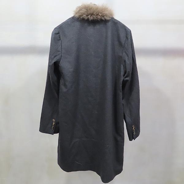 BRUNELLO CUCINELLI(브루넬로 쿠치넬리) 100% 캐시미어 다크그레이 컬러 넥 퍼 여성용 자켓 [인천점] 이미지4 - 고이비토 중고명품