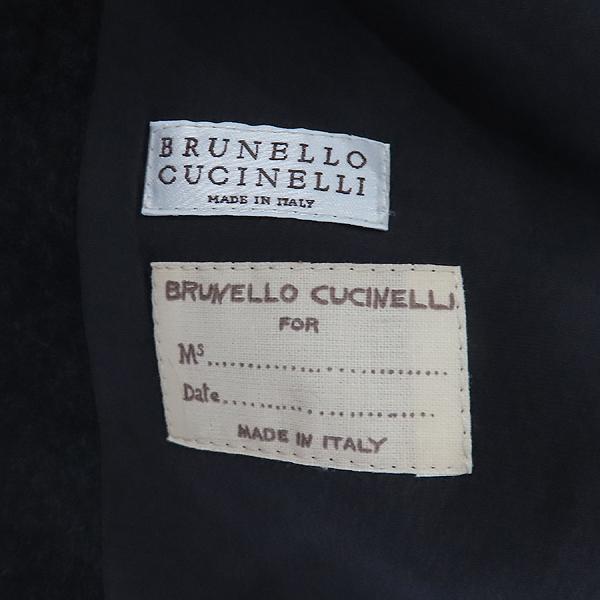 BRUNELLO CUCINELLI(브루넬로 쿠치넬리) 100% 캐시미어 다크그레이 컬러 넥 퍼 여성용 자켓 [인천점] 이미지5 - 고이비토 중고명품