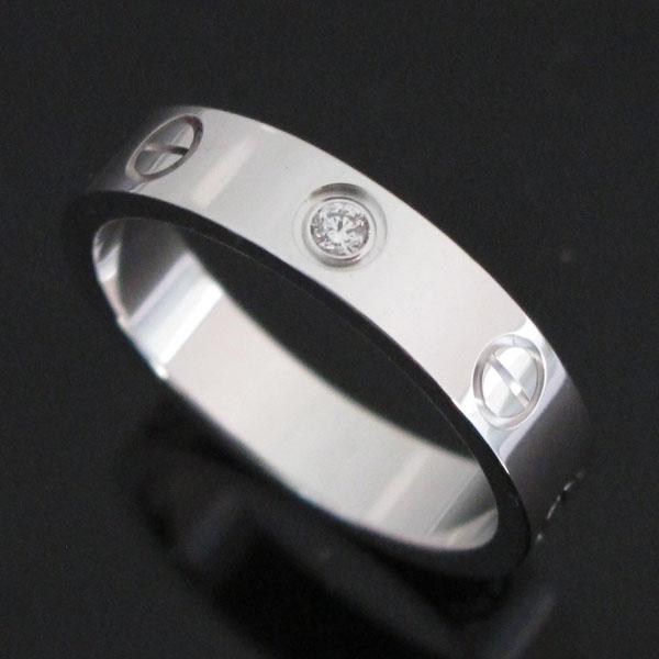 Cartier(까르띠에) B4050551 18K 화이트골드 미니 러브링 1포인트 다이아 반지-11호 [대구반월당본점] 이미지3 - 고이비토 중고명품