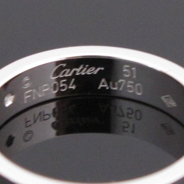 Cartier(까르띠에) B4050551 18K 화이트골드 미니 러브링 1포인트 다이아 반지-11호 [대구반월당본점] 이미지4 - 고이비토 중고명품