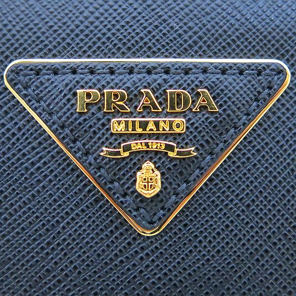 Prada(프라다) 1BA838 블랙 사피아노 금장 로고 장식 토트백 + 크로스스트랩 2WAY [부산센텀본점] 이미지4 - 고이비토 중고명품