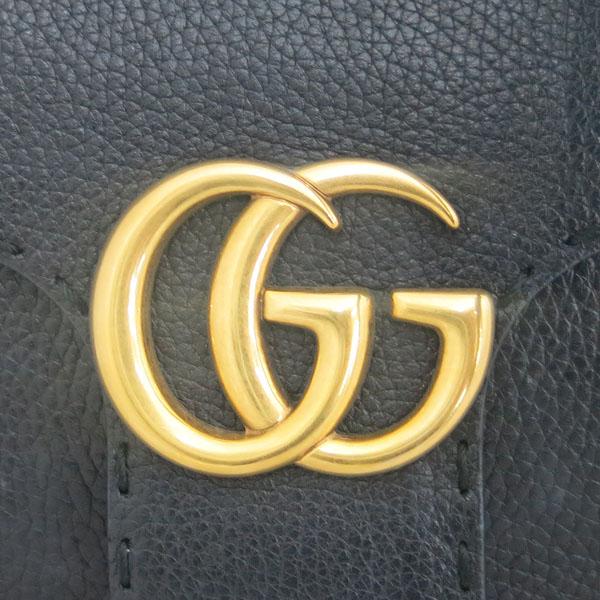 Gucci(구찌) 442622 GG MAMONT 마몬트 블랙 미니 금장로고 락 장식 플랩 탑 핸들 토트백 + 숄더 스트랩 2WAY [동대문점] 이미지3 - 고이비토 중고명품