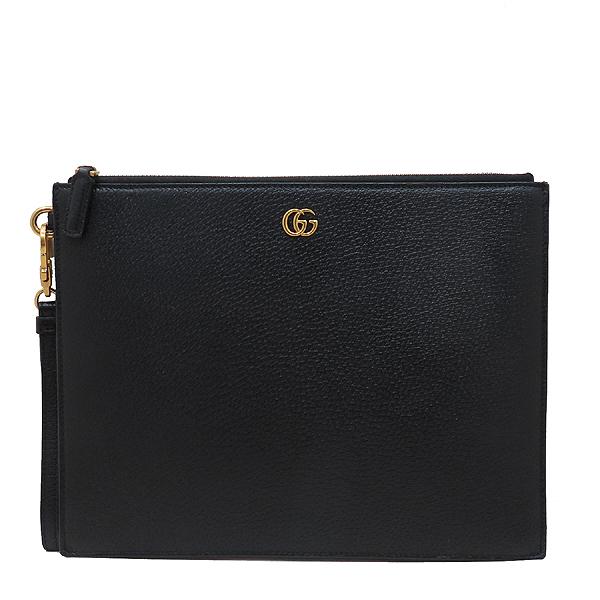 Gucci(구찌) 547077 블랙 레더 GG Marmont(마몬트) 금장 로고 클러치백 [인천점] 이미지2 - 고이비토 중고명품
