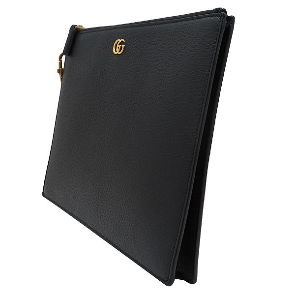 Gucci(구찌) 547077 블랙 레더 GG Marmont(마몬트) 금장 로고 클러치백 [인천점] 이미지3 - 고이비토 중고명품