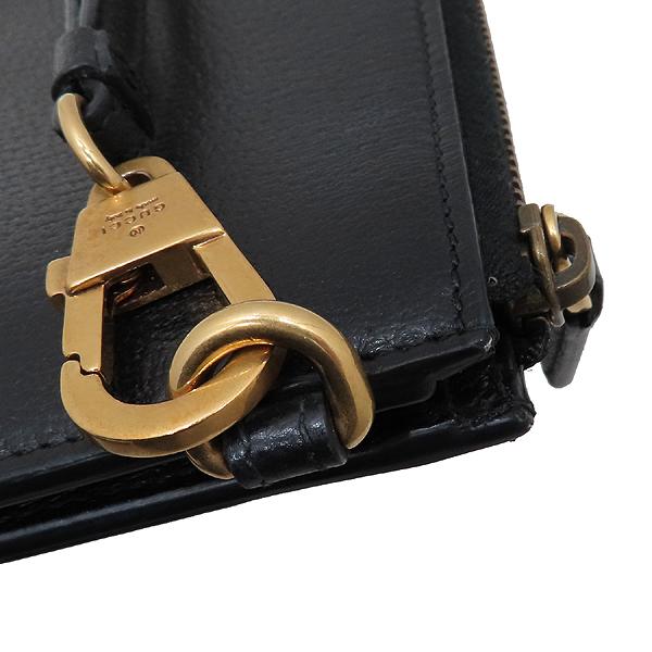 Gucci(구찌) 547077 블랙 레더 GG Marmont(마몬트) 금장 로고 클러치백 [인천점] 이미지5 - 고이비토 중고명품