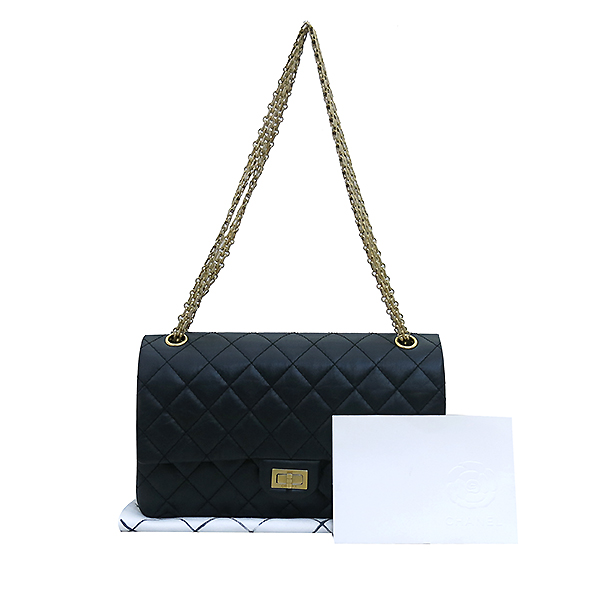 Chanel(샤넬) A37587 빈티지 2.55 M 사이즈 금장 체인 숄더백 [부산센텀본점]