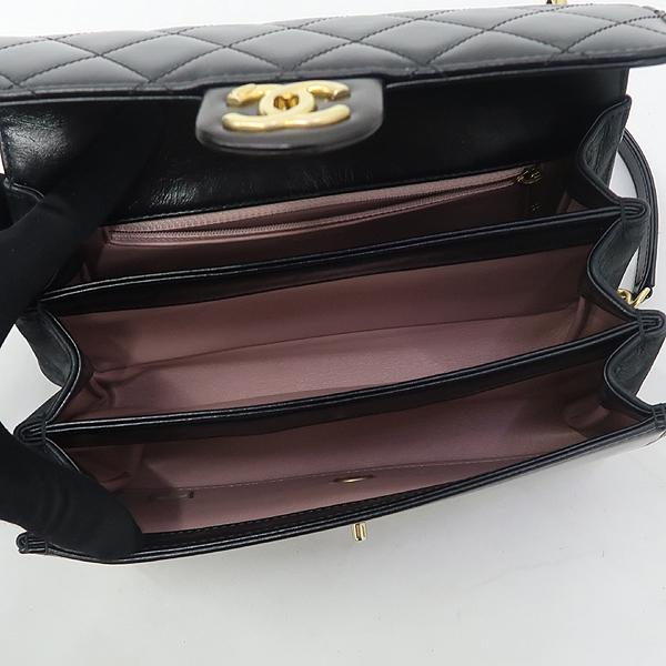 Chanel(샤넬) A91864 블랙 램스킨 금장 트위드 체인 스트라이트 아코디언 플랩 숄더백 [강남본점] 이미지5 - 고이비토 중고명품