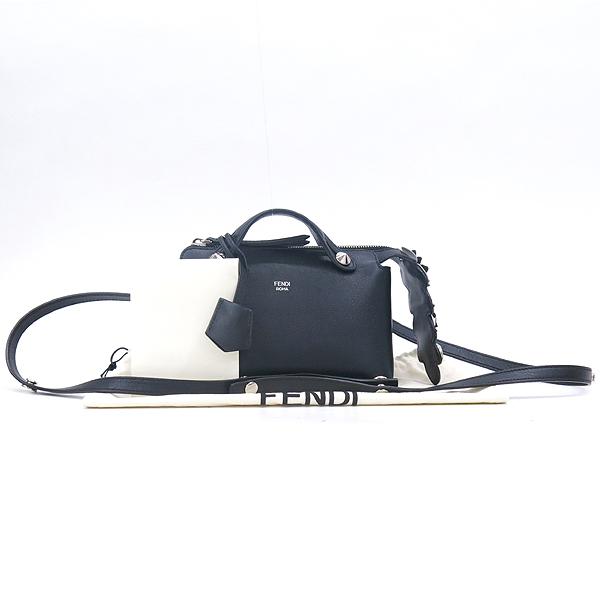 Fendi(펜디) 8BL135 블랙 레더 MINI SENZA 바이더웨이 미니 토트백 + 숄더스트랩 2WAY [강남본점]