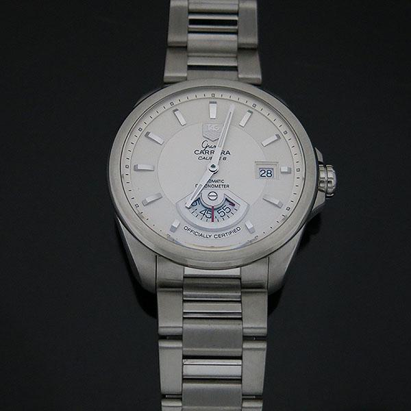 Tag Heuer(태그호이어) WAV511B BA0900 GARND CARRERA (그랜드까레라) 화이트 다이얼 바 인덱스 데이트 오토매틱 스틸 브레이슬릿 남성용 시계 [대구동성로점] 이미지2 - 고이비토 중고명품