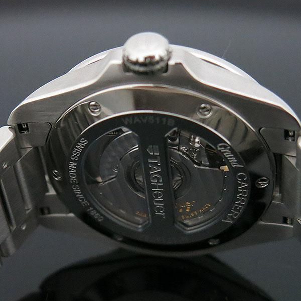 Tag Heuer(태그호이어) WAV511B BA0900 GARND CARRERA (그랜드까레라) 화이트 다이얼 바 인덱스 데이트 오토매틱 스틸 브레이슬릿 남성용 시계 [대구동성로점] 이미지5 - 고이비토 중고명품