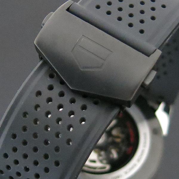 Tag Heuer(태그호이어) CAR2A1Z CARRERA 카레라 45MM 크로노그래프 오토매틱 블랙 티타늄 베젤케이스 스켈레톤 시스루백 우레탄 밴드 남성용 시계 [대구동성로점] 이미지7 - 고이비토 중고명품