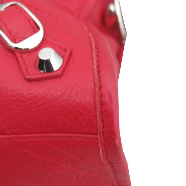 Balenciaga(발렌시아가) 431621 레드 레더 그래피티 클래식 시티 S사이즈 모터 토트백 + 숄더스트랩 2WAY [동대문점] 이미지6 - 고이비토 중고명품