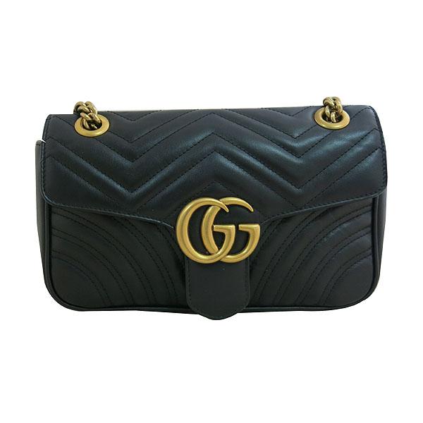Gucci(구찌) 443497 블랙 레더 GG마몬트 스몰 마틀라쎄 퀼팅 금장 체인 숄더백 [대구동성로점] 이미지2 - 고이비토 중고명품