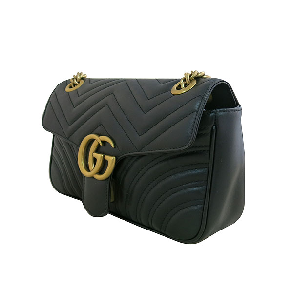 Gucci(구찌) 443497 블랙 레더 GG마몬트 스몰 마틀라쎄 퀼팅 금장 체인 숄더백 [대구동성로점] 이미지3 - 고이비토 중고명품