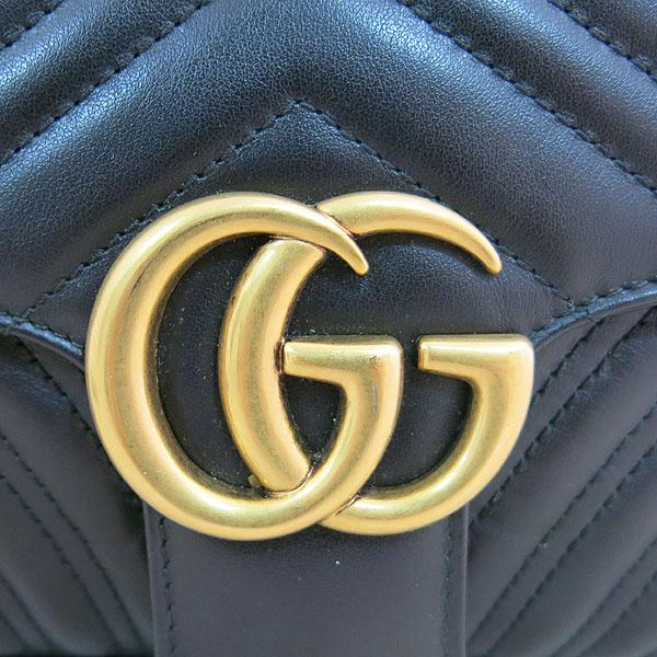 Gucci(구찌) 443497 블랙 레더 GG마몬트 스몰 마틀라쎄 퀼팅 금장 체인 숄더백 [대구동성로점] 이미지4 - 고이비토 중고명품