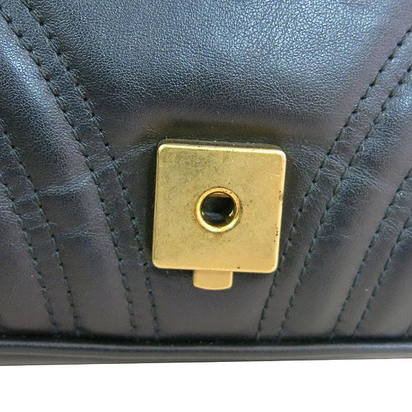 Gucci(구찌) 443497 블랙 레더 GG마몬트 스몰 마틀라쎄 퀼팅 금장 체인 숄더백 [대구동성로점] 이미지6 - 고이비토 중고명품